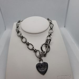 Juicy Couture Silver Heart Necklace